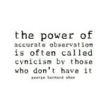 Cynicism quote GBS